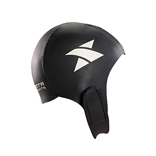 Xterra Wetsuits - Neoprene Swim Cap - Performance Swimming Cap for Men, Women, & Kids (Black, Small/Medium)