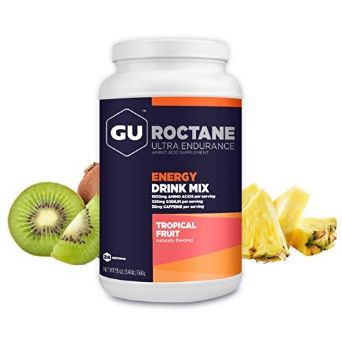 GU Energy Roctane Ultra Endurance Energy Drink Mix, 3.44-Pound Jar, Tropical Fruit