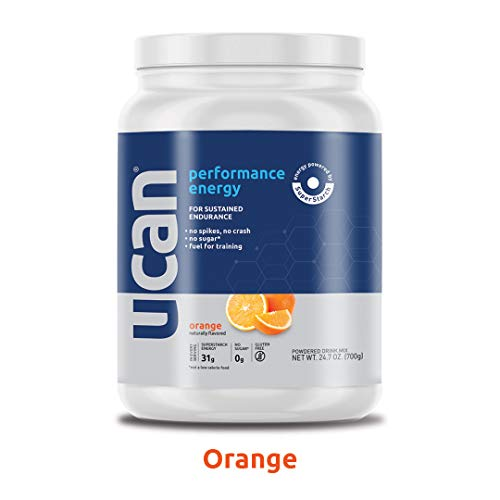 UCAN Performance Pre-Workout Energy Powder with SuperStarch, Orange - Vegan, No Added Sugar, Gluten Free, Keto Friendly, Gentle on Stomach - (20 Servings)