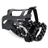 Venzo Compatible with Peloton Bike and Bike+ Pedal Toe Clips Cage - Indoor Exercise Indoor Bike Pedal Adapters -Convert Compatible with Look Delta Pedals to Toe Clip Straps– Ride with Sneakers