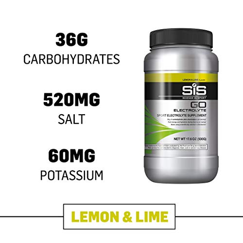 Science in Sport Go Electrolyte Energy Drink Powder | Lemon and Lime Flavor Sports Performance and Endurace Supplement - 1.25 Pound