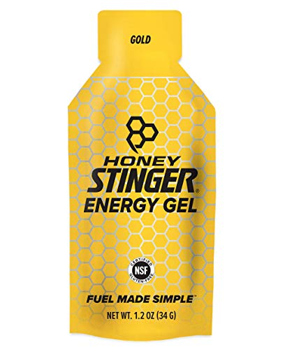 Honey Stinger Classic Energy Gel, Gold, Sports Nutrition, 1.1 Ounce (Pack of 24)