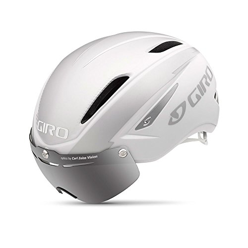 Giro Air Attack Shield Helmet - Matte White/Silver Large