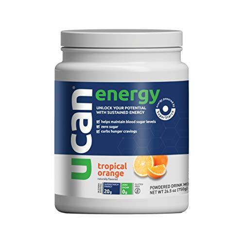 UCAN_Parent_EnergyUCAN Keto Energy Powder - Sugar Free Pre Workout Powder for Men & Women with SuperStarch - Non-GMO, Vegan, Gluten Free - Tropical Orange - 30 Servings_Powder (Tropical Orange)