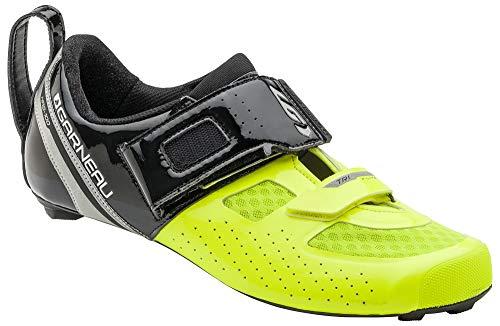 Louis Garneau - Men's Tri X-Lite Triathlon 2 Bike Shoes, Black/Bright Yellow, US (11.75), EU (46.5)