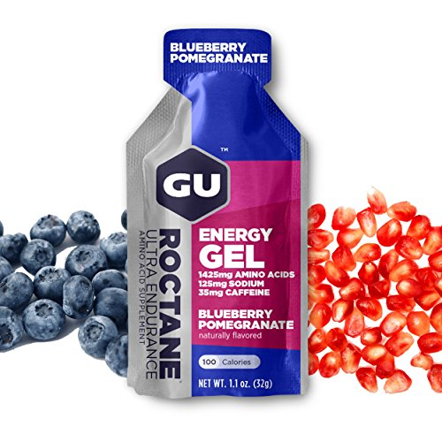 GU Energy Roctane Ultra Endurance Energy Gel, 24-Count, Blueberry Pomegranate