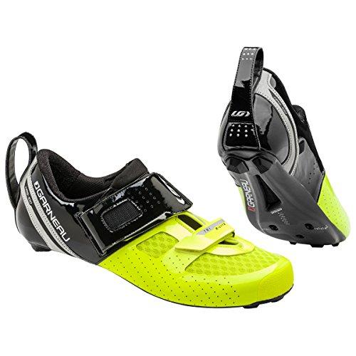 Louis Garneau Tri X-Lite II Tri Shoe - Men's Black/Bright Yellow, 46.5