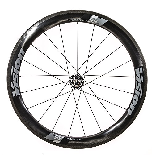 Vision Metron 55 SL 700C Clincher QR Old: F: 100 R: 130 Brake: Rim Pair 9/10/11SPD Wheel, 29'