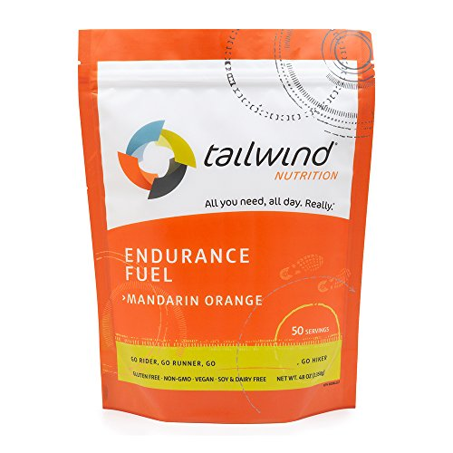 TAILWIND NUTRITION Mandarin Orange Endurance Fuel 50 Serving | Hydration Drink Mix with Electrolytes, Carbohydrates | Non-GMO, Gluten-Free, Vegan, No Soy or Dairy