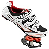 Venzo Cycling Bicycle Road Bike Shoes Look Keo Compatible Pedals & Cleats White Size 43