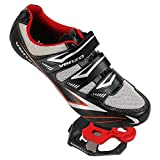 Venzo Road Bike Compatible with Shimano SPD SL Look Cycling Bicycle Shoes & Pedals 42